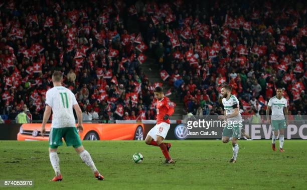 Ricardo Rodriguez of Switzerland during the FIFA 2018 World Cup Qualifier PlayOff Second Leg between Switzerland and Northern Ireland at St JakobPark...