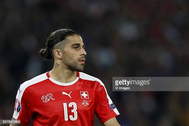 Ricardo Rodriguez of Switzerland during the UEFA EURO 2016 Group A group stage match between Switzerland and France at the Stade PierreMauroy on june...