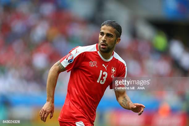 Ricardo Rodriguez of Switzerland during the UEFA EURO 2016 Round of 16 match between Switzerland v Poland at Stade GeoffroyGuichard on June 25 2016...