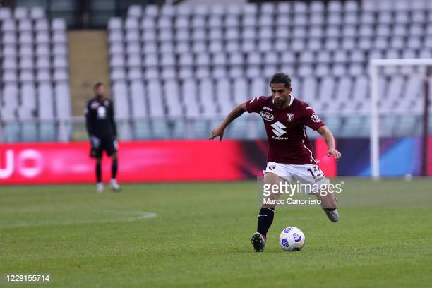 Ricardo Rodriguez of Torino FC in action during the Serie A match between Torino Fc and Cagliari Calcio Cagliari Calcio wins 32 over Torino Fc