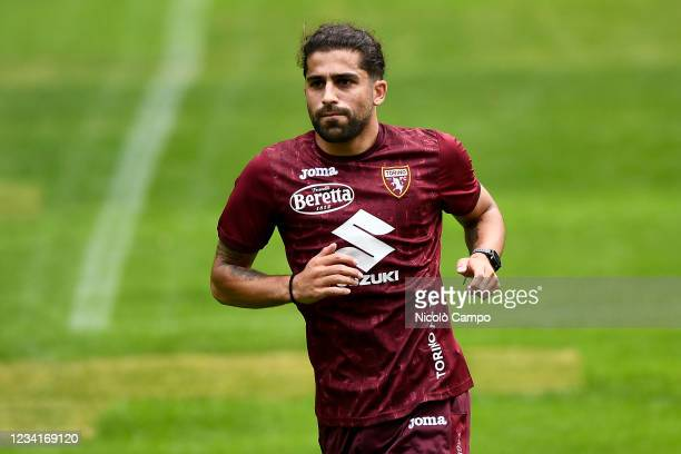 Ricardo Rodriguez of Torino FC in action during warmup prior to the pre-season friendly football match between Torino FC and SSV Brixen. Torino FC...