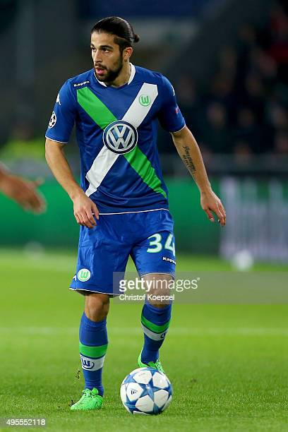 Ricardo Rodriguez of Wolfsburg runs with the ball during the UEFA Champions League Group B match between PSV Eindhoven and VfL Wolfsburg at Philips...