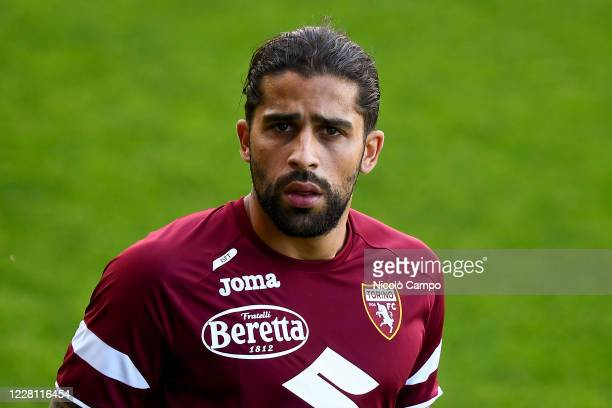 Ricardo Rodriguez, Torino FC's new signing, looks on during Torino FCs first training session of the 2020/2021 season.