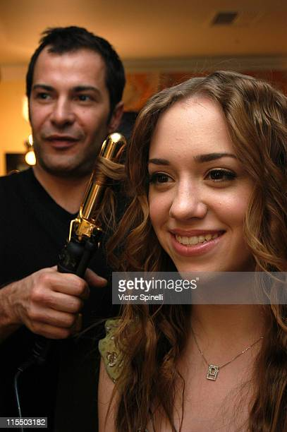 Ricardo Rojas and Andrea Bowen during Alvin Valley Suite Day 3 at Beverly Wilshire Hotel in Beverly Hills California United States