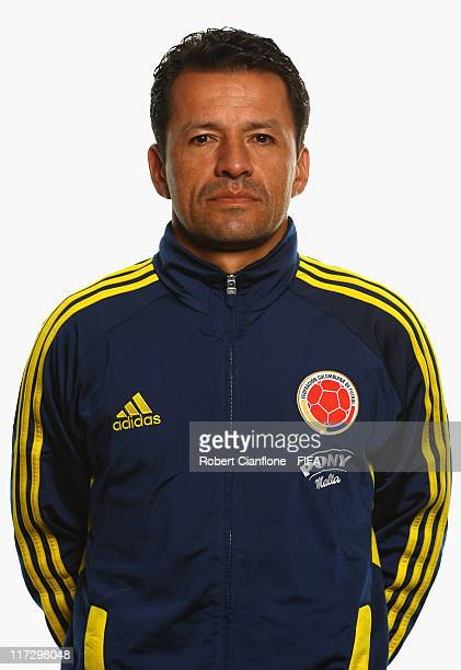 Ricardo Rozo head coach of Colombia during the FIFA portrait session on June 25 2011 in Cologne Germany