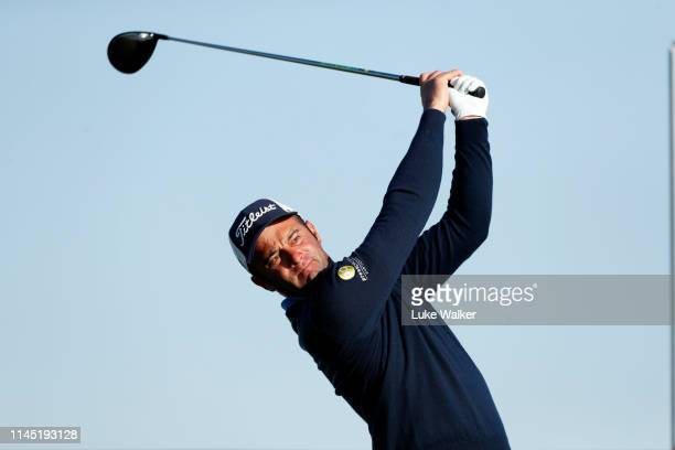 Ricardo Santos of Portugal tees off on the 10th hole during Day Two of Turkish Airlines Challenge at Samsun Golf Club on April 26, 2019 in Samsun,...