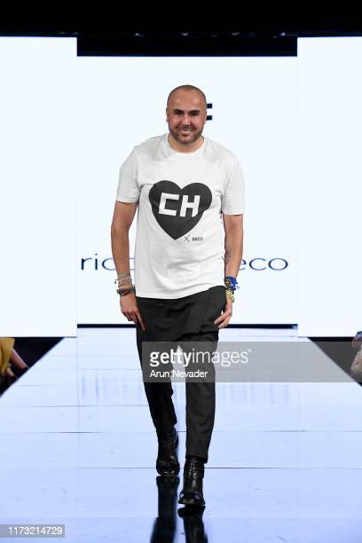 Ricardo Seco walks the runway during RICARDO SECO At New York Fashion Week Powered by Art Hearts Fashion NYFW September 2019 at The Angel Orensanz...