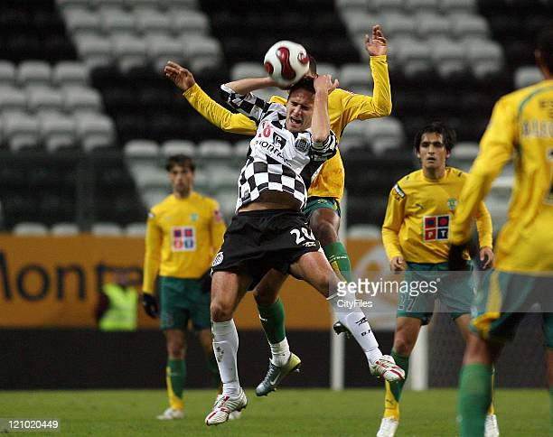 Ricardo Sousa during a Portuguese Bwin League 16th round match between Boavista and Sporting in Porto Portugal on January 28 2007