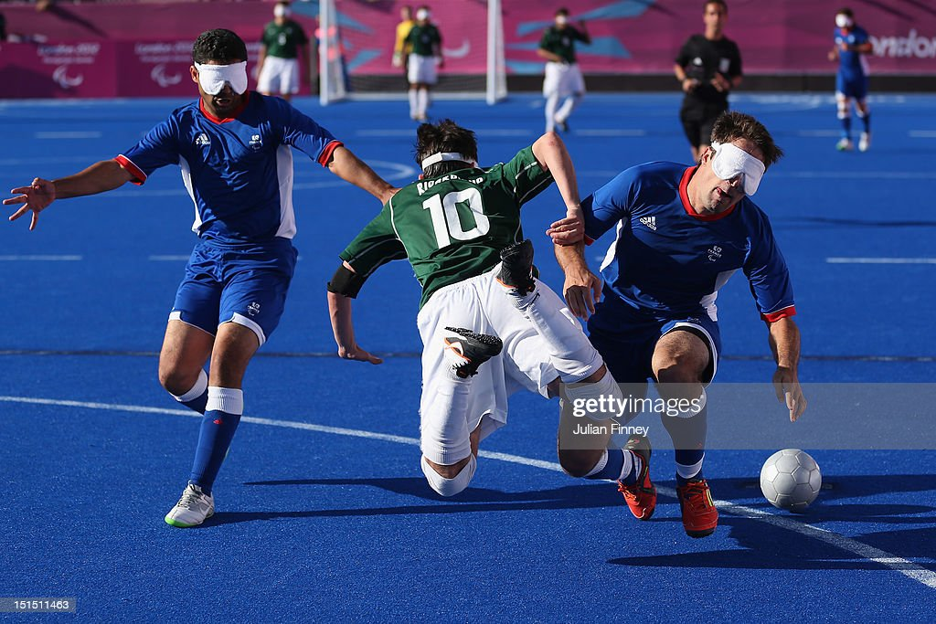 2012 London Paralympics - Day 10 - Football 5-a-side : News Photo
