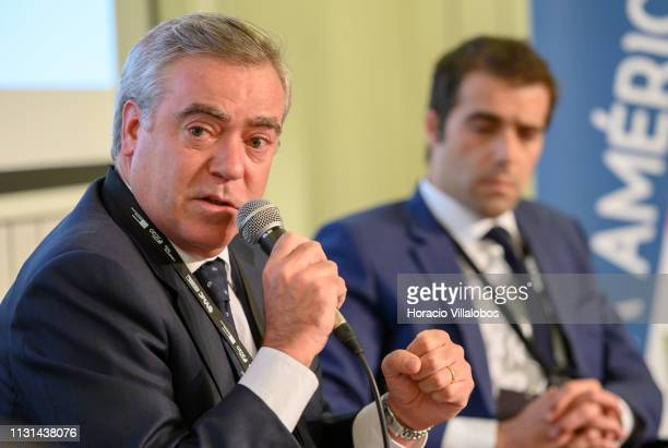 Ricardo Teixeira Oliveira CEO of COBA Brazil and vicepresident of the Chamber of Commerce PortugueseBrazilian participates in a discussion panel at...