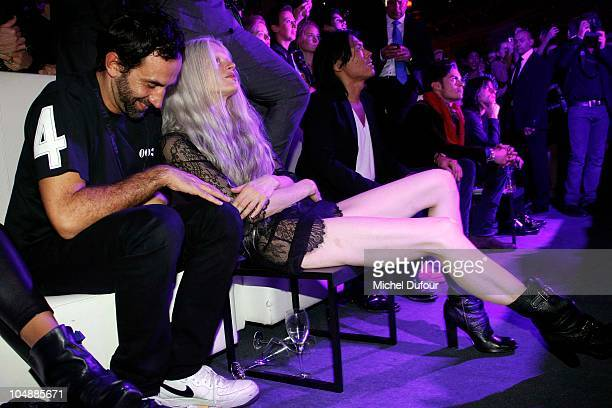 Ricardo Tisci and Kristen McMenamy attend 'Printemps Loves New York' Party with V Magazine during Paris Fashion Week Spring/Summer 2011 at Le...