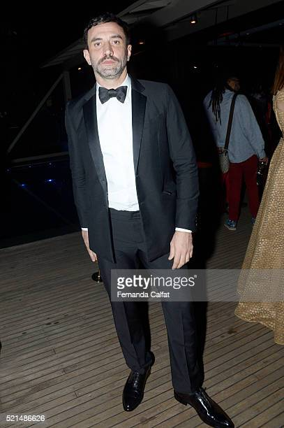 Ricardo Tisci attends at 2016 amfAR Inspiration Gala Sao Paulo on April 15 2016 in Sao Paulo Brazil