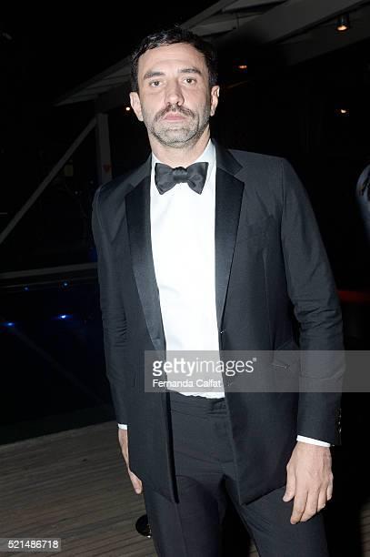 Ricardo Tisci attends at 2016 amfAR Inspiration Gala Sao Paulo on April 15 2016 in Sao Paulo Brazil