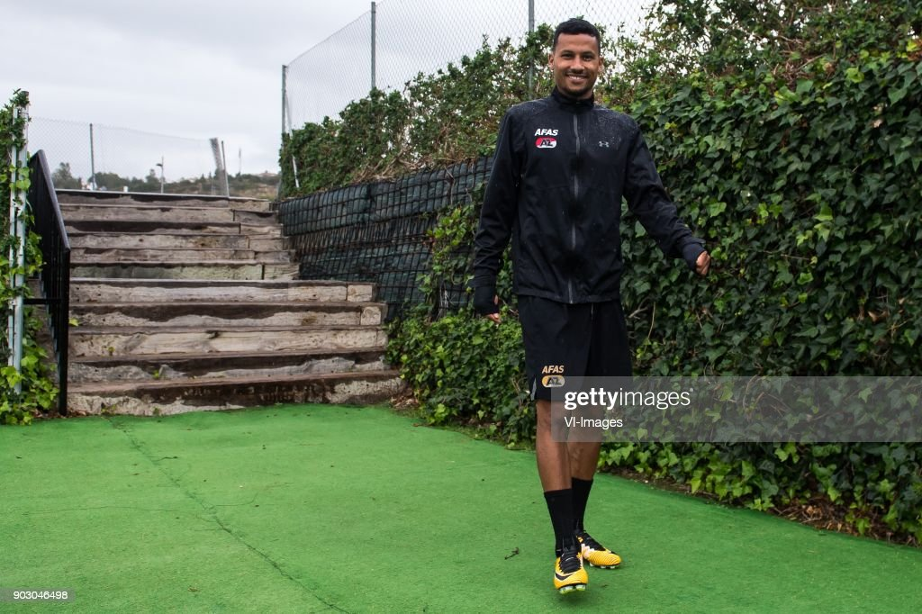 Ricardo van Rhijn of AZ during a training session of AZ Alkmaar at the La Elba Club Resort on January 09, 2018 in Estepona, Spain