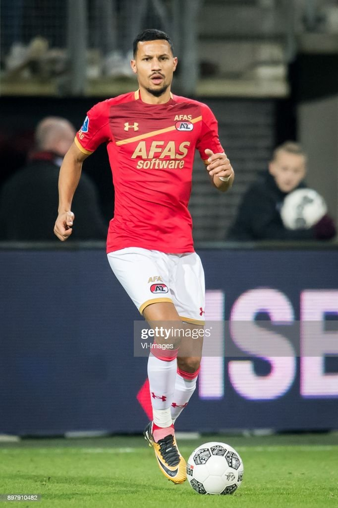 Ricardo van Rhijn of AZ during the Dutch Eredivisie match between AZ Alkmaar and sc Heerenveen at AFAS stadium on December 23, 2017 in Alkmaar, The Netherlands