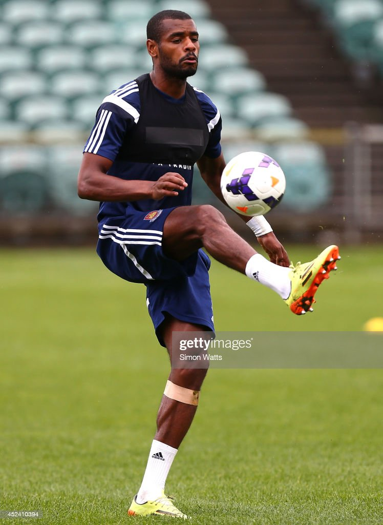 Ricardo Vaz Te during a West Ham United training session at North Harbour Stadium on July 20, 2014 in Auckland, New Zealand.