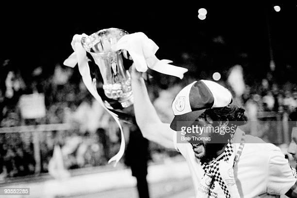 Ricardo Villa of Tottenham Hotspur celebrates with the trophy after the Tottenham Hotspur v Manchester City FA Cup Final Replay held at Wembley...