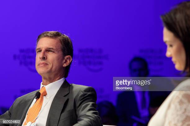 Ricardo Villela Marino executive vice president of Itau Unibanco Holding SA listens during the World Economic Forum on Latin America in Sao Paulo...