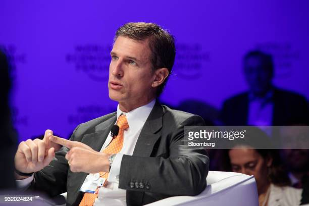 Ricardo Villela Marino executive vice president of Itau Unibanco Holding SA speaks during the World Economic Forum on Latin America in Sao Paulo...