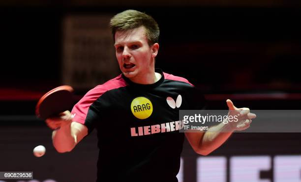 """Ricardo Walther """"n in action during the Table Tennis World Championship at Messe Duesseldorf on May 29, 2017 in Dusseldorf, Germany."""
