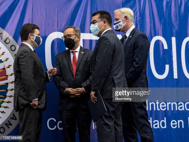 Ricardo Zuniga, U.S. Special Envoy for the Northern Triangle, from left, Ronalth Ivan Ochaeta, commissioner of the International Commission Against...