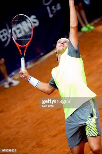 Riccardo Balzerani during match between Johannes Haerteis and Riccardo Balzerani during day 4 at the Internazionali di Tennis Citt dell'Aquila in...