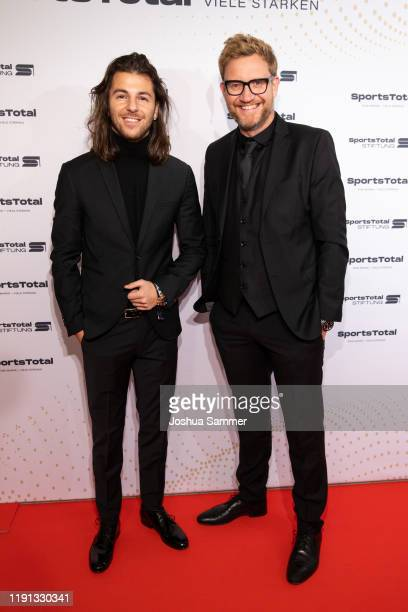 Riccardo Basile and guest attend the SportsTotal Christmas Party and foundation gala at Flora Koeln on December 01 2019 in Cologne Germany