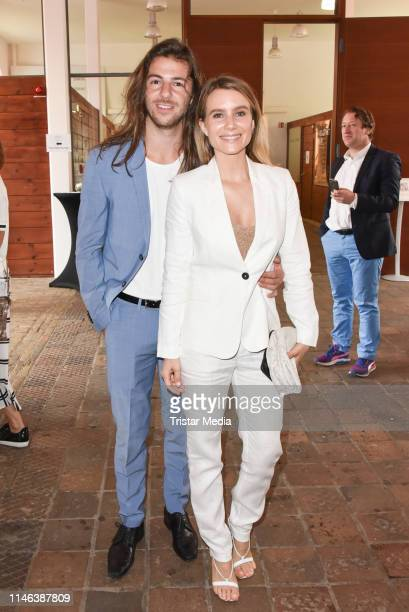 Riccardo Basile and guest during the 11th Golf Charity Cup PreGolf party at Schinkelhalle on May 26 2019 in Potsdam Germany