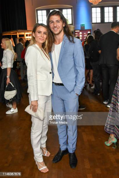 Riccardo Basile and Isabelle during the 11th Golf Charity Cup PreGolf party at Schinkelhalle on May 26 2019 in Potsdam Germany