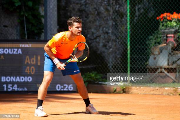 Riccardo Bonadio during match between Joao Souza and Riccardo Bonadio during day 2 at the Interzionali di Tennis Citt dell'Aquila in L'Aquila, Italy,...