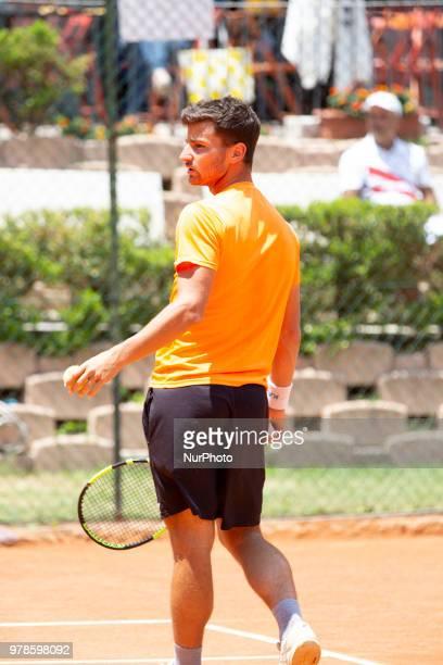 Riccardo Bonadio during match between Riccardo Bonadio and Guilherme Clezar during day 4 at the Internazionali di Tennis Città dell'Aquila in...