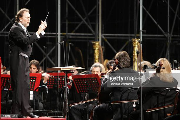 Riccardo Chailly attends the concert for the 150th anniversary of Giacomo Puccini's birth during the 54th Festival Puccini in Torre del Lago June 15...