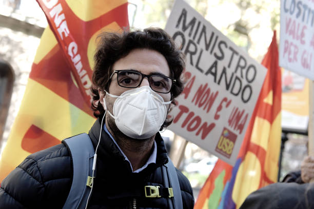ITA: Workers And Students Demonstration For Riccardo Cristello