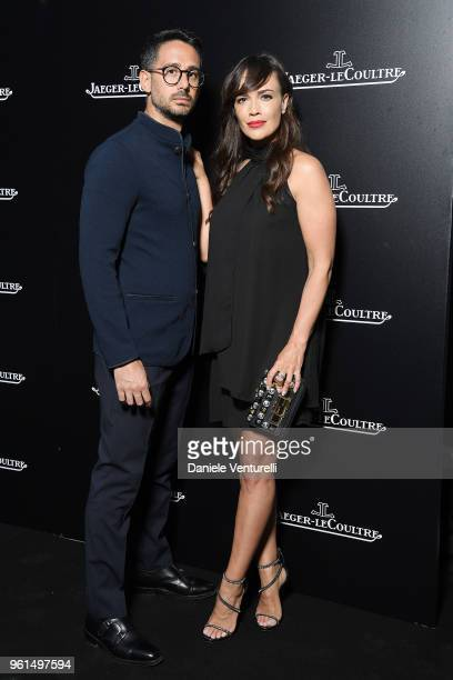Riccardo Di Pasquale and Roberta Giarrusso attend Polaris Collection presentation by Jaeger LeCoultre on May 22 2018 in Milan Italy