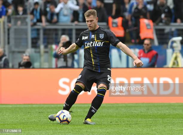 Riccardo Gagliolo during the Italian Serie A football match between SS Lazio and Parma at the Olympic Stadium in Rome on march 17 2019