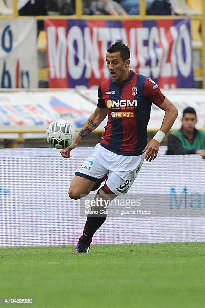 Riccardo Improta of Bologna FC in action during the Serie B match between Bologna FC and AC Spezia at Stadio Renato Dall'Ara on April 18 2015 in...