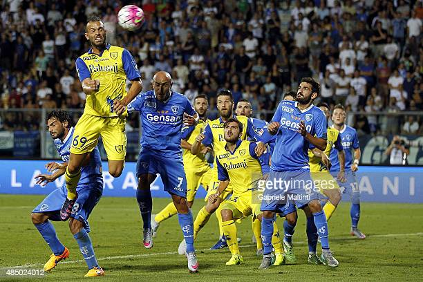 Riccardo Meggiorini of AC Chievo Verona scores a goal during the Serie A match between Empoli FC and AC Chievo Verona at Stadio Carlo Castellani on...