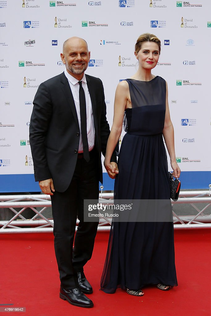 Riccardo Milani and Paola Cortellesi attends the '2015 David Di Donatello' Awards Ceremony at Teatro Olimpico on June 12, 2015 in Rome, Italy.