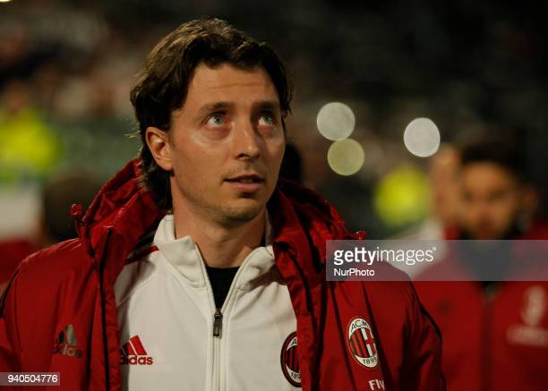 Riccardo Montolivo during serie A match between Juventus v Milan in Turin on March 31 2018