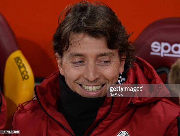 Riccardo Montolivo during the Italian Serie A football match between AS Roma and AC Milan at the Olympic Stadium in Rome on february 25 2018
