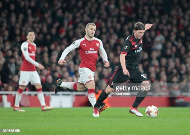 Riccardo Montolivo during the UEFA Europa League Round of 16 2nd leg match between Arsenal and AC MIian at Emirates Stadium on March 15 2018