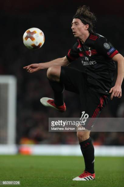 Riccardo Montolivo of AC Milan during the UEFA Europa League Round of 16 Second Leg match between Arsenal and AC Milan at Emirates Stadium on March...