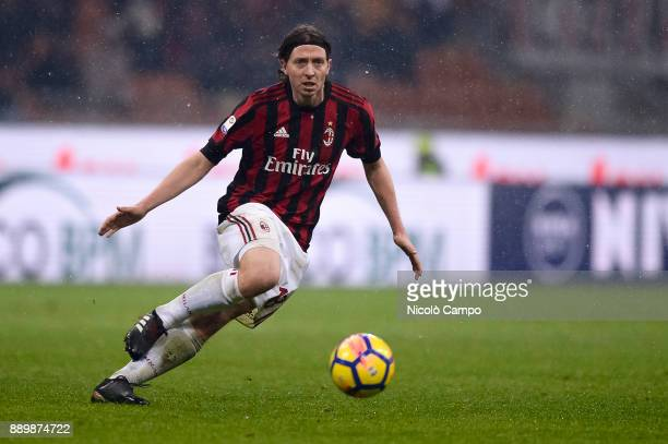 Riccardo Montolivo of AC Milan in action during the Serie A football match between AC Milan and Bologna FC AC Milan won 21 over Bologna FC