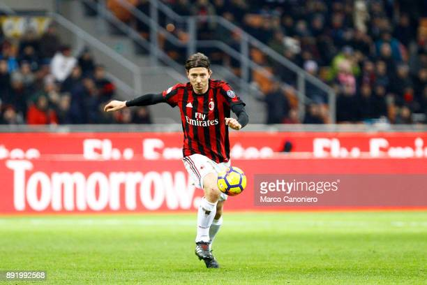 Riccardo Montolivo of Ac Milan in action during the Tim Cup football match between AC Milan and Hellas Verona Fc Ac Milan wins 30 over Hellas Verona...