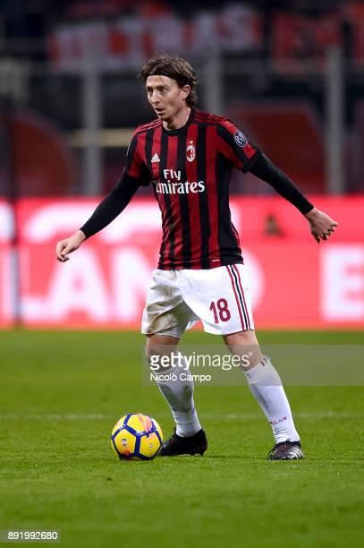 Riccardo Montolivo of AC Milan in action during the TIM Cup football match between AC Milan and Hellas Verona AC Milan won 30 over Hellas Verona