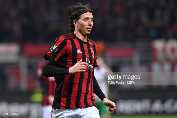 Riccardo Montolivo of AC Milan in action during UEFA Europa League Round of 32 match between AC Milan and Ludogorets Razgrad at the San Siro on...