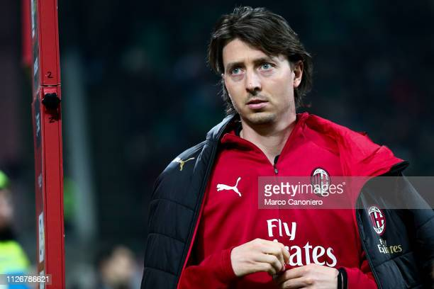 Riccardo Montolivo of Ac Milan looks on before during the Serie A football match between AC Milan and Empoli Fc Ac Milan wins 30 over Empoli Fc