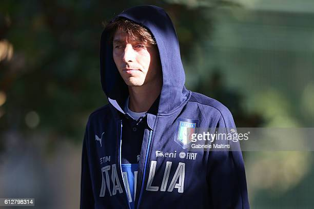 Riccardo Montolivo of Italy during the training session at Coverciano on October 5 2016 in Florence Italy
