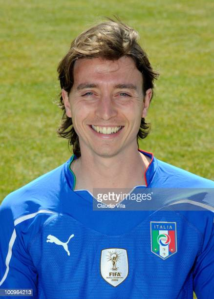 Riccardo Montolivo of Italy poses during the official Fifa World Cup 2010 portrait session on May 26 2010 in Sestriere near Turin Italy