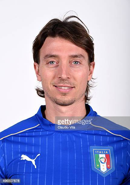 Riccardo Montolivo of Italy poses during the official portrait session at Coverciano on November 10 2015 in Florence Italy